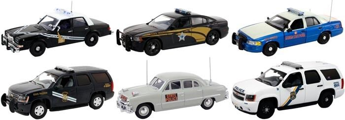 SET OF 6 POLICE CARS RELEASE  1 1/43 BY FIRST RESPONSE REPLICAS FR-43-R01