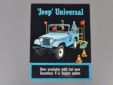 ✇ JEEP Universal V6 US-Prospekt Brochure von 1965 CJ-5 CJ-6 DJ-5 DJ-6 Dountless