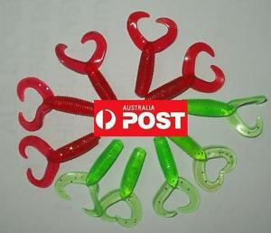 10 pcs Double Curly Tails Soft Plastic Fishing Lures Lure 4cm AU local Fast Ship
