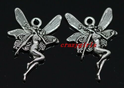 10//40//240pcs Tibetan silver beautiful angel girls Charms Pendant 21x14mm