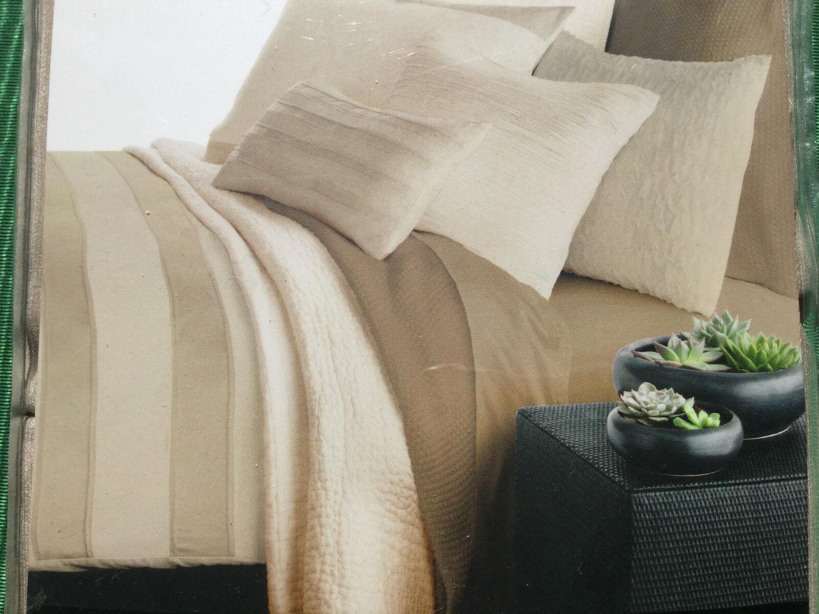 NEW women Karan Essentials Lustre Seam FULL QUEEN Bed Skirt  VAPOUR   144