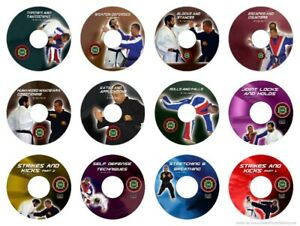 martial arts instructional dvd self defense jujitsu 12 PACK of Awesome DVD's