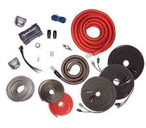 rockford fosgate rfk1d dual amp 1 0 awg amplifier wiring kit true rh ebay com Best Amp Wiring Kit 2 Gauge Amp Wiring Kit
