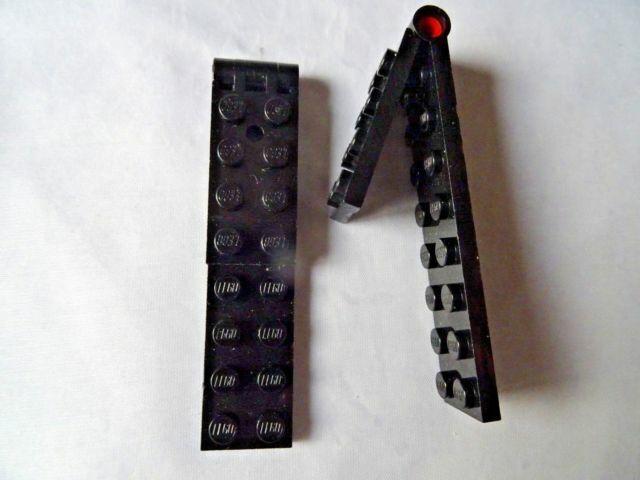LEGO PART 3324C01 BLACK LARGE 2 x 9 HINGE PLATE x 2
