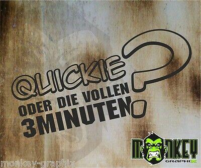 Schwarz Oldschool Plott Aufkleber Autoaufkleber Quickie ? Sticker OEM JDM Tuning