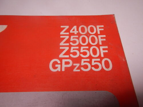 kawasaki gpz400 gpz550 z400f z500f z550f 1983 1985 workshop