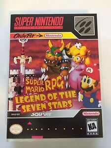 super mario rpg super nintendo replacement case no game ebay