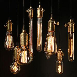 Image is loading Tungsten-Filament-Vintage-E27-Bulb-Pendant-Light-Blub-