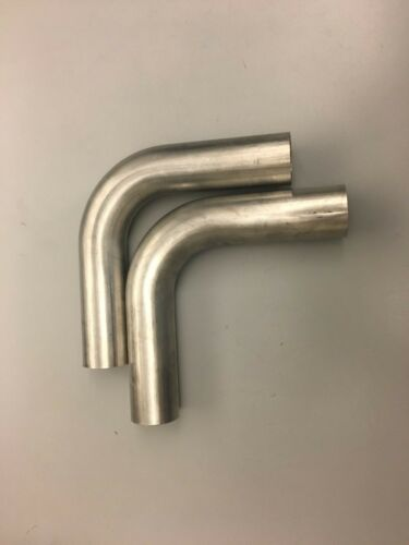 """Tube QTY2 1.75/"""" 90 Degree Stainless Steel Mandrel Bend Pipe 44mm 304SS Elbow"""