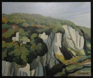 Vincent-Lajarige-1949-Landschaft-Hst-Rouen-Baeume-Wald-Amazon-Amazonas