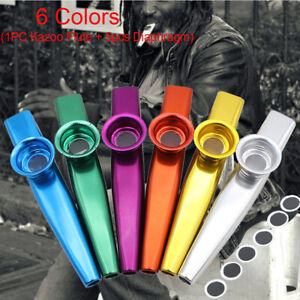 Metal-Kazoo-5-Diaphragm-Harmonica-Mouth-Flute-Party-Gifts-Musical-Instrument