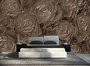 papier peint 3d trompe l oeil moderne photo murale 3d fleur nature 027 ebay. Black Bedroom Furniture Sets. Home Design Ideas