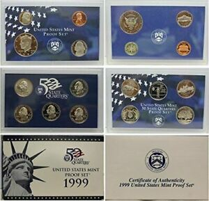 1999-S Proof Set United States US Mint Original Government Packaging Box /& COA