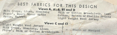 1930s Vintage Sewing Pattern Blusa de B36 1534
