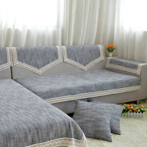 Image Is Loading Sofa Slipcover Lace Anti Skid Pad Couch Cover