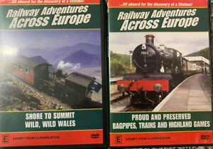 RAILWAY ADVENTURES ACROSS EUROPE Proud & Preserve – Shore to Summit Two DVDs