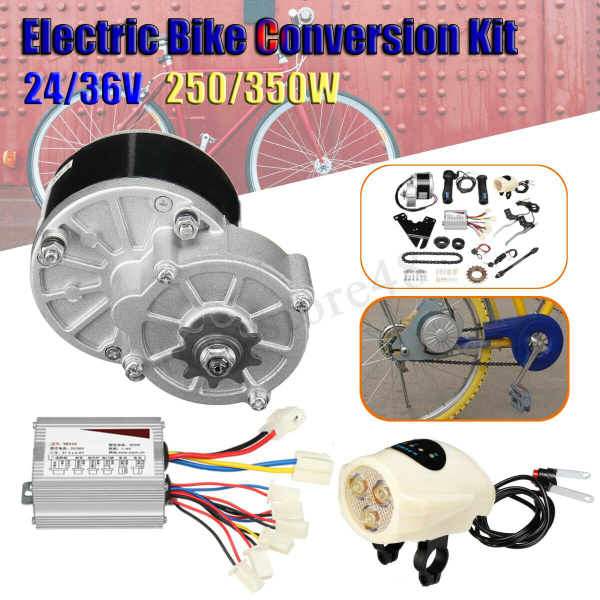 24V 36V 250W 350W Electric Bike Conversion Kit Motor Controller fr 22-28  E-Bike