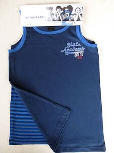Schiesser Boy's Undershirt Twin Pack 140 152 164 176 Shirt 0/0 Underwear  New | eBay