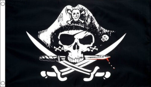 5/' x 3/' Dead Man/'s Chest Pirate Flag Skull and Crossbones Banner