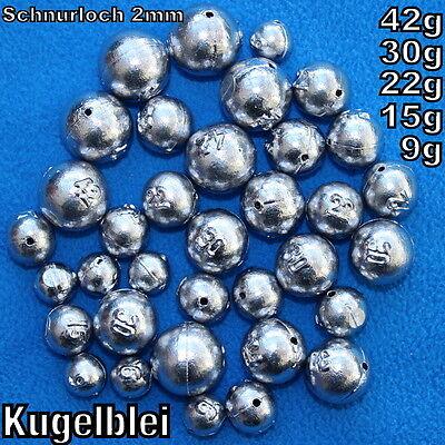 Kugelblei 9g,15g,22g,30g,42g Lochblei Blei Inline Angelblei Freie Auswahl