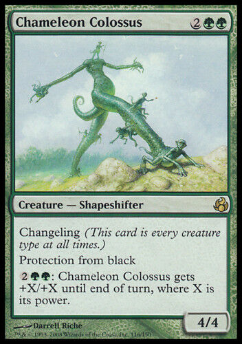 Chameleon Colossus MTG MAGIC MOR Morningtide Italian Colosso Camaleontico