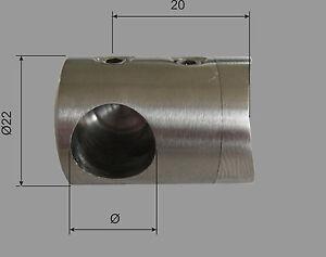 Edelstahl Pfosten mit Querstabhalter Geländer V2A Treppe 12mm Stab