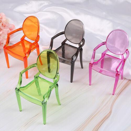 New plastic toys house decor dollhouse furniture 1//6 doll armchair dinningroomH1