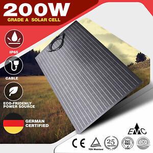 200W Semi-flexible Solar Panel ETFE Coating Aluminum based Outdoor