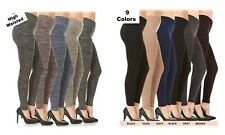 Womens Fleece Lined Plus Size Leggings Warm Winter Thick High Waisted 1X 2X 3X