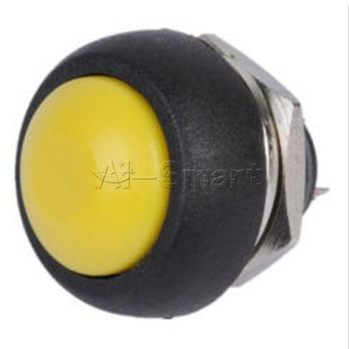 2//5PCS 12mm 6 Colors  Mini Round Switch Waterproof Momentary ON//OFF Push Button