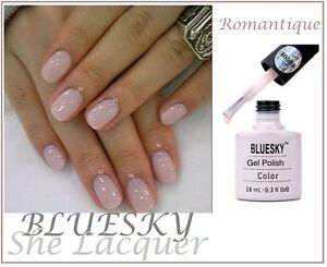 Image Is Loading Bluesky Romantique Pink French Manicure Uv Led