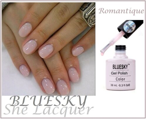 Bluesky Romantique Pink French Manicure Uv Led Gel Nail Polish New