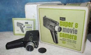 Vintage-SEARS-9128-Super-8-Movie-Camera-w-Box-J0552