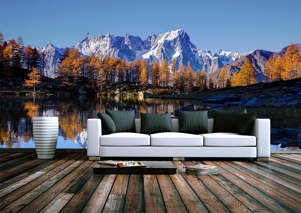 Detalles De Otoño Lago De Montaña Alpes Wallpaper Mural Decoración Para El Hogar Habitación Póster De Pared De Foto Ver Título Original