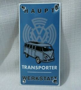 VINTAGE-VW-BUS-PORCELAIN-SIGN-GAS-OIL-METAL-STATION-PUMP-PLATE-VOLKSWAGEN-RARE