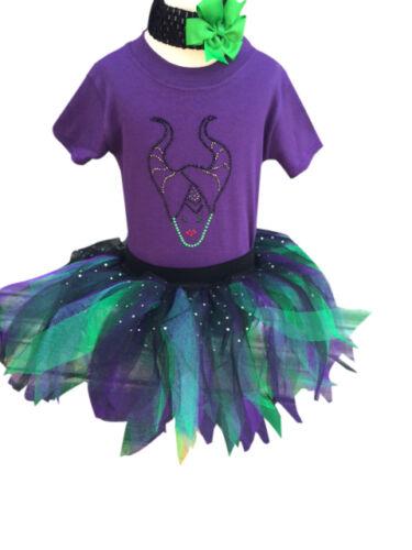 Tutu Skirt Babygrow T Shirt Halloween Skull Mouse Rhinestone Fancy Dress Toddler