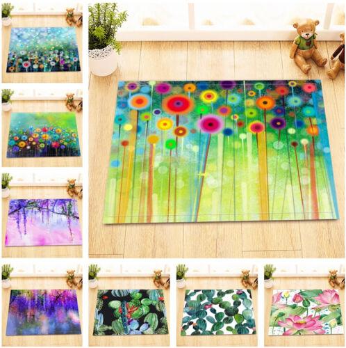 """Kitchen Bathroom Non-Slip Floor Bath Door Mat Rug Watercolor Fall Leaves 24x16/"""""""