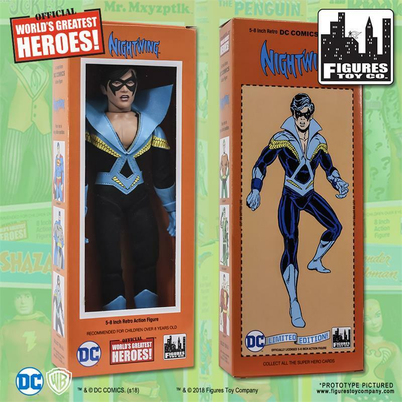 Dc comics retro - stil box nightwing teen - titanen 8 - zoll - action - figur neue