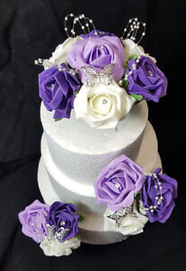 Prime Wedding Anniversary Birthday Cake Topper Set Ivory Purple Lilac Funny Birthday Cards Online Ioscodamsfinfo