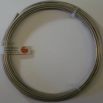 30 feet 8 AWG gauge Nichrome 80 resistance wire
