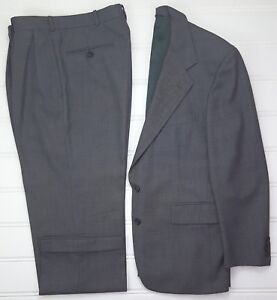 Polo-Ralph-Lauren-Suit-40R-Gray-Two-Button-Wool-Lined-Vented-Mens-Size-Sz-33x28