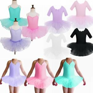 b06e07217aa1 Toddler Girl Kid Gymnastic Dance Dress Ballet Tutu Skirt Leotard ...