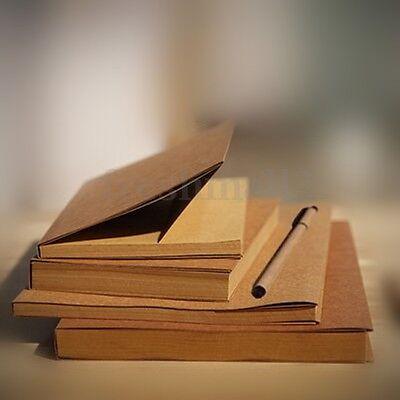 32K Vintage Kraft Paper Sketchbook Cowhide Coil Blank Sketching Scrapbook Diary