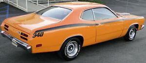 1971 1972 PLYMOUTH DUSTER 340 SIDE STRIPES KIT DECAL MOPAR