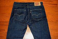 Levi's 501 - STRAIGHT Leg BUTTON Fly Blue Jeans - Men Size 36 x 32 - MINT!!
