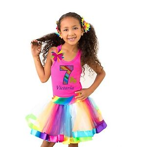 Gold Roller Skates Shirt Glitter Rainbow Tutu Birthday Party Derby Knee Socks