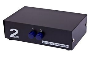 rca 2x1 2 in 1 out 2 way port 3 rca av audio video switcher switch rh ebay com Multiple RCA Switch RCA Audio Switch Box