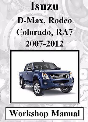 isuzu d max rodeo holden colorado ra7 2007-2012 workshop manual digital  download