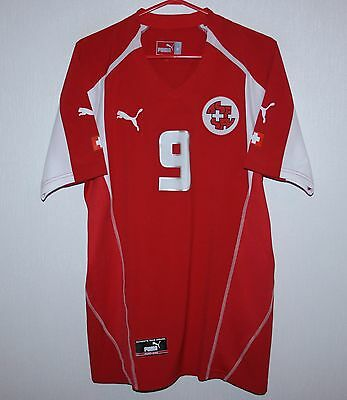 brand new 3fb77 4c99b Switzerland swiss National Team home player issue shirt 03/04 #9 Puma Size  M | eBay