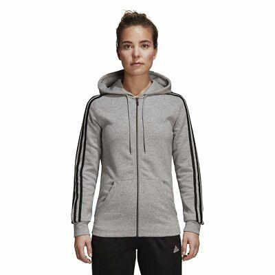 adidas Essentials Cotton Fleece 3 Stripes Full Zip Hoodie